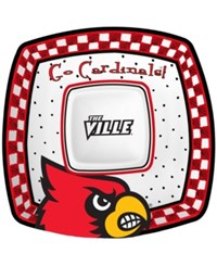 Memory Company Lousiville Cardinals Gameday Ceramic Chip And Dip Plate Assorted