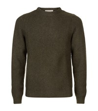 Sandro Ephemere Chunky Knit Jumper Male Green