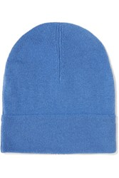 Magaschoni Knitted Cashmere Beanie Blue