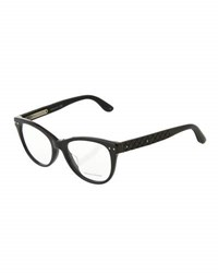 Bottega Veneta Modified Cat Eye Optical Glasses Red