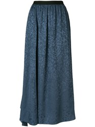 Zadig And Voltaire Jess Long Skirt Blue