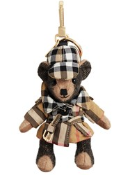 Burberry Thomas Bear Charm In Vintage Check Trench Coat Nude And Neutrals