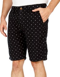 Lucky Brand Kente Double Weave Printed Cotton Shorts Black