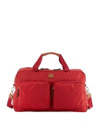 Bric's X Travel Boarding Duffle Bag Red