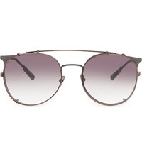 Kris Van Assche Kva69 Curved Brow Aviator Sunglasses Matt Grey