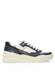 Ami Basket Leather Low Top Trainers Navy White