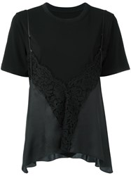 Maison Martin Margiela Lace Cami Layered T Shirt Black