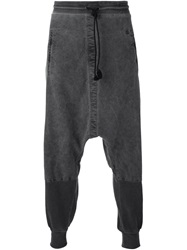 Lost And Found Rooms Drop Crotch Track Pants Black