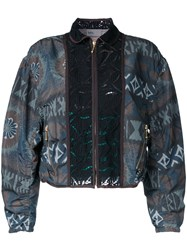 Kolor Allover Print Bomber Jacket Brown