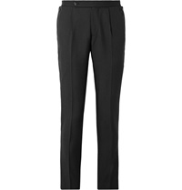 Maison Martin Margiela Slim Fit Wool And Mohair Blend Trousers Black