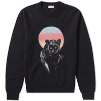 Saint Laurent Panther Crew Knit Black