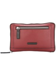 Cerruti 1881 Zipped Clutch Red
