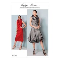 Vogue Women's Princess Seam Dress With Shaped Stand Collar Sewing Pattern 9241