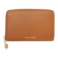 Alexander Mcqueen Tan Medium Zip Around Continental Wallet