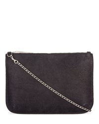 Jigsaw Large Pouch With Chain Black