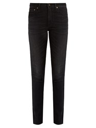 Saint Laurent Mid Rise Skinny Jeans Black