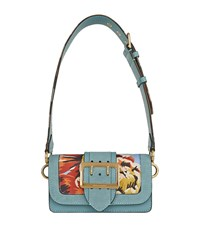 Burberry Shoes And Accessories Small Peony Rose Buckle Bag Female Turquoise