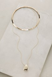 Anthropologie Pendant Wire Layered Choker Gold
