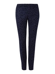 Noose And Monkey Men's Kahlo Suit Trousers Navy