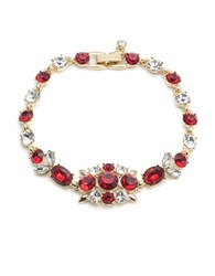 Givenchy Faceted Stones Studded Collar Necklace Red