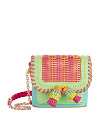 Sophia Webster Claudie Tassel Cross Body Bag Female Aqua
