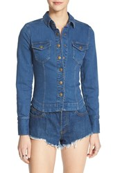 Women's Free People 'Rogue' Slim Stretch Denim Shirt