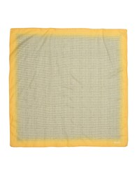 Bark Square Scarves Yellow