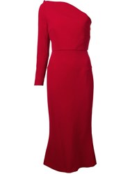 Roland Mouret 'Linvan' One Shoulder Dress Red