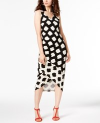 Inc International Concepts I.N.C Tulip Hem Midi Dress Ikat Spots