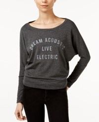 William Rast Veruca Dream Acoustic Graphic Sweatshirt Charcoal