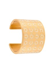 Chanel Vintage Wide Coco Cuff Metallic