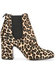 Laurence Dacade Mia Leopard Print Ankle Boots Multicolour