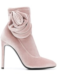Giuseppe Zanotti Design Single Rose Boots Pink And Purple