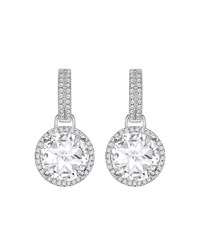Kiki Mcdonough Grace 18K White Gold Diamond Topaz Earrings White Gold