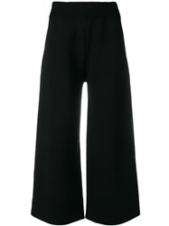 Andrea Ya'aqov Cropped Knitted Trousers Black