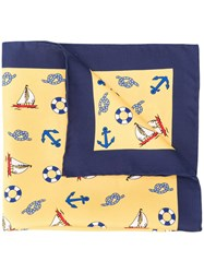 Kiton Sailor Pocket Square Yellow