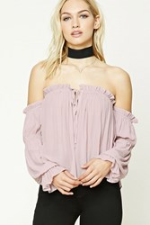 Forever 21 Contemporary Ruffle Crop Top