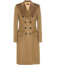 Dolce And Gabbana Cashmere Coat Brown