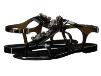 Furla Candy Jelly Sandals T.5 Onyx Gomma Fiori Women's Sandals Brown