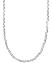 Macy's Braided Chain Necklace In Sterling Silver 18