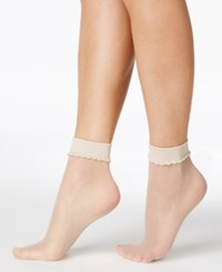 Berkshire Sheer Sheer Ankle Socks Hosiery 6753 Linen
