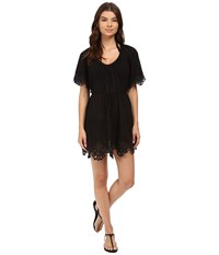 Seafolly Beach Smock Dress Cover Up Black Women's Swimwear