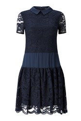 James Lakeland Lace Dress Navy