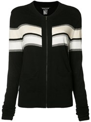 Thomas Wylde Merinda Striped Cardigan Black