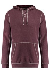 Tom Tailor Denim Hoodie Dark Topaz Red Melange Bordeaux