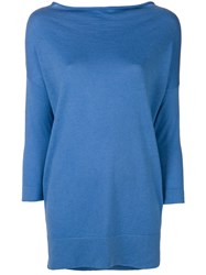 Snobby Sheep Long Knitted Top Blue