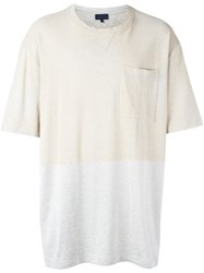 Lanvin Bi Colour T Shirt Nude And Neutrals