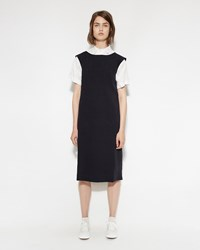 Margaret Howell Simple Vest Dress Dark Navy