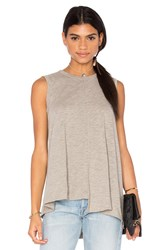 Wilt Slub Shifted Trapeze Tank Gray