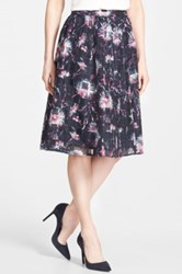 Halogen Floral And Check Full Midi Skirt Regular And Petite Blue
